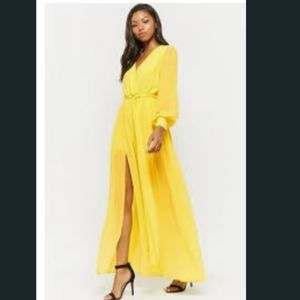 NWT🌞 Forever 21 yellow Maxi dress